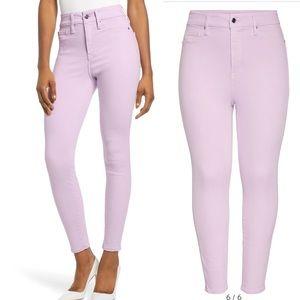 Good American Good Legs Crop Lavender Skinny Jeans